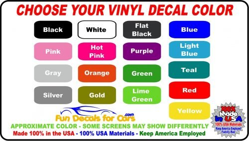 Vinyl Decal Color Choice